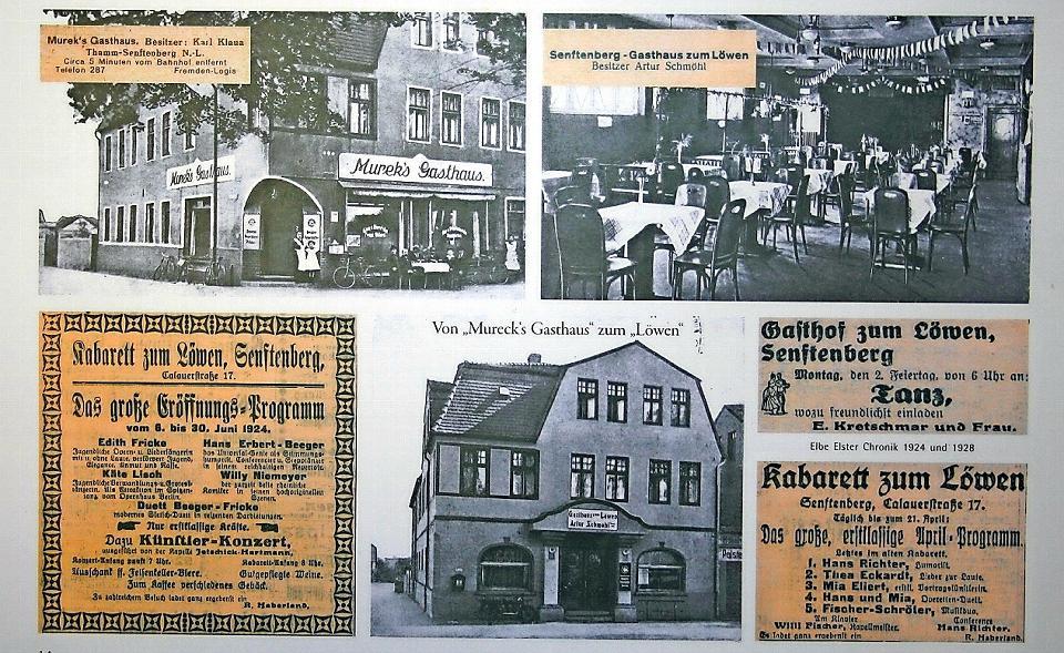 """Das Gasthaus """"Zum Löwen"""" in der Calauer Straße in Senftenberg hat in seiner Geschichte mehrfach den Eigentümer oder Bewirtschafter gewechselt. Dort herrschte ein reges kulturelles Leben, wie die Anzeigen aus den 1920er-Jahren beweisen. Foto: Norbert Jurk"""