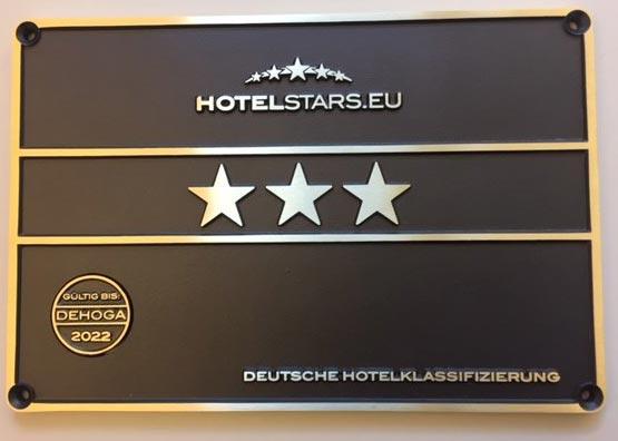 Seit 24.05.2016 als 3 Sterne Hotel klassifiziert