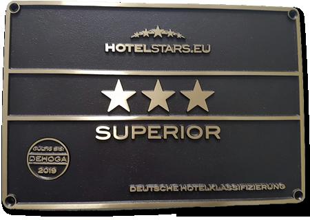 Seit 24.05.2016 als 3 Sterne Superior Hotel klassifiziert